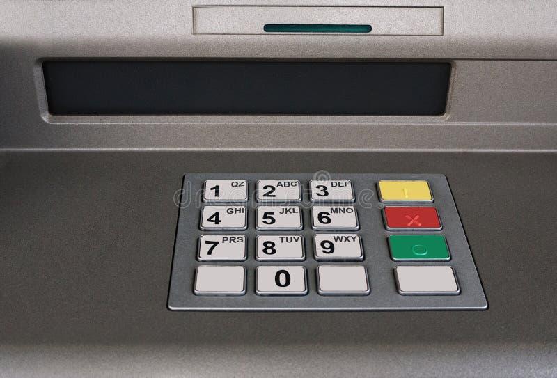 Cash machine. Detail from cashpoint machine. No money stock images
