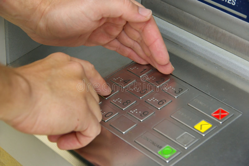 Download Cash point 08 stock image. Image of enter, automated, machine - 5293759
