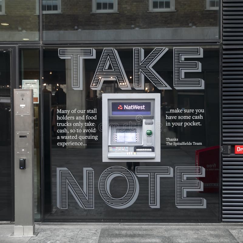 Cash point machines outide a branch of Natwest bank stock photos