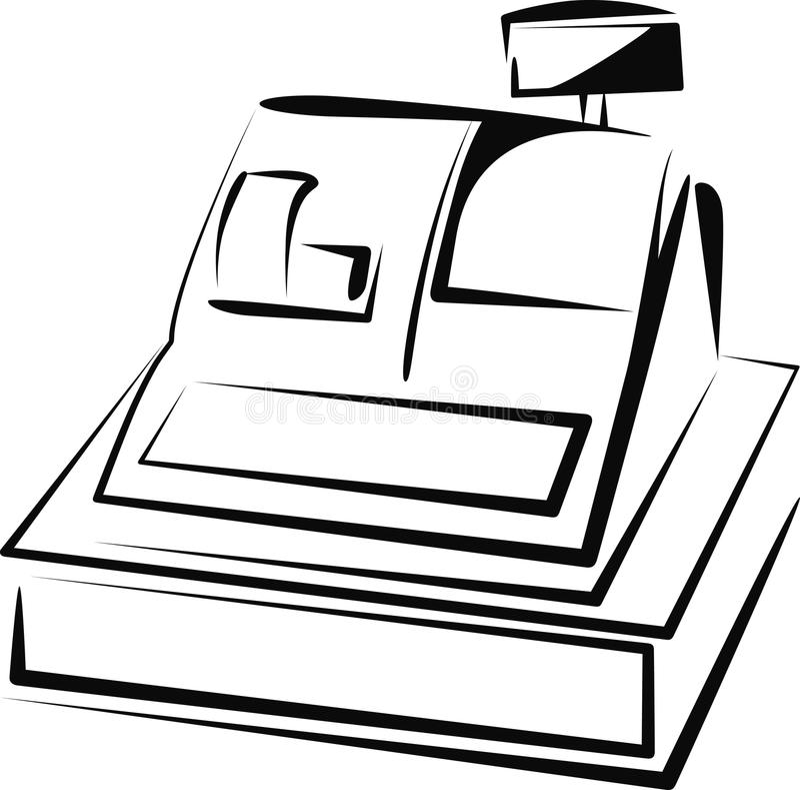 Cash register. Simple illustration with a cash register royalty free illustration