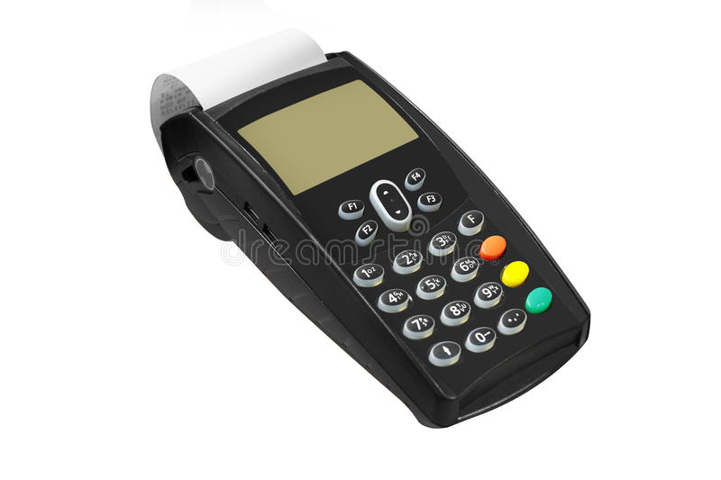 Cash register. The image of cash register under the white background stock photos