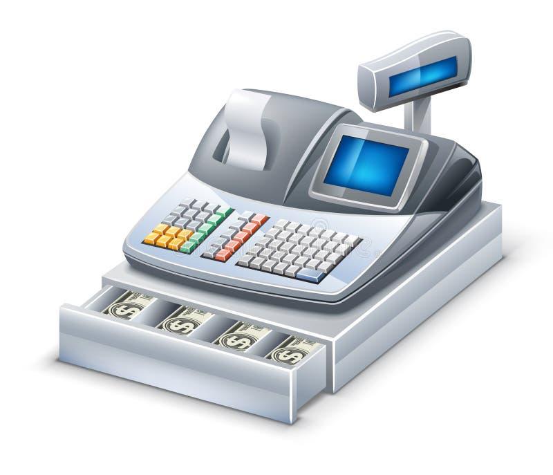 Cash register. Vector illustration of cash register on white background stock illustration