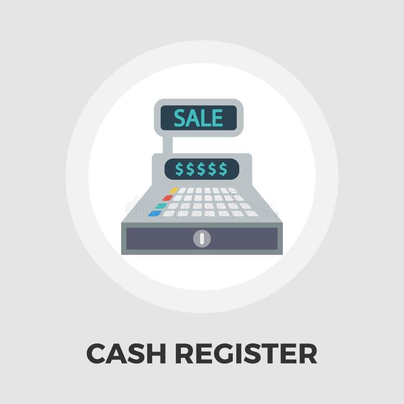 Cash register flat icon. vector illustration