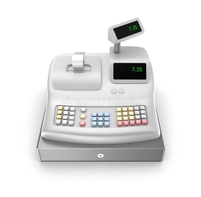 Cash register. Front view vector illustration