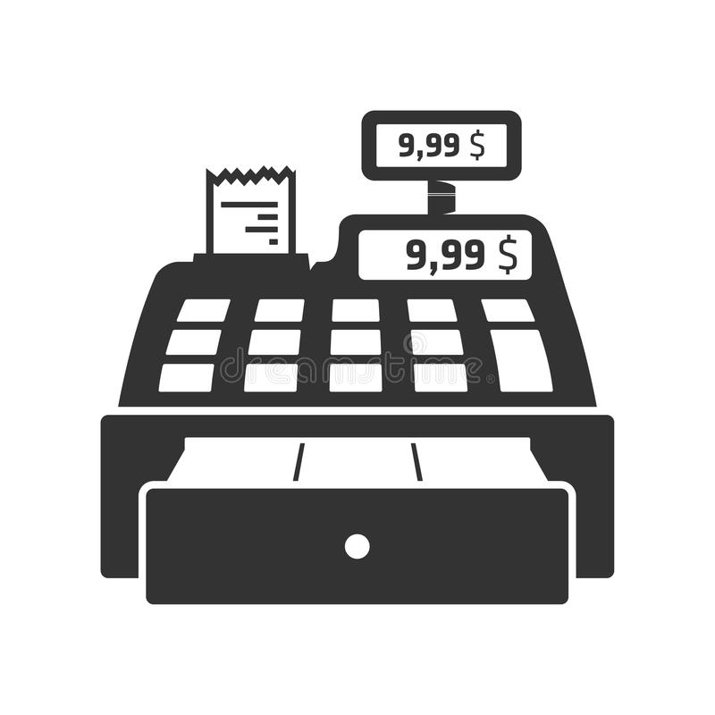 Free Cash Register Icon. Royalty Free Stock Images - 74259039