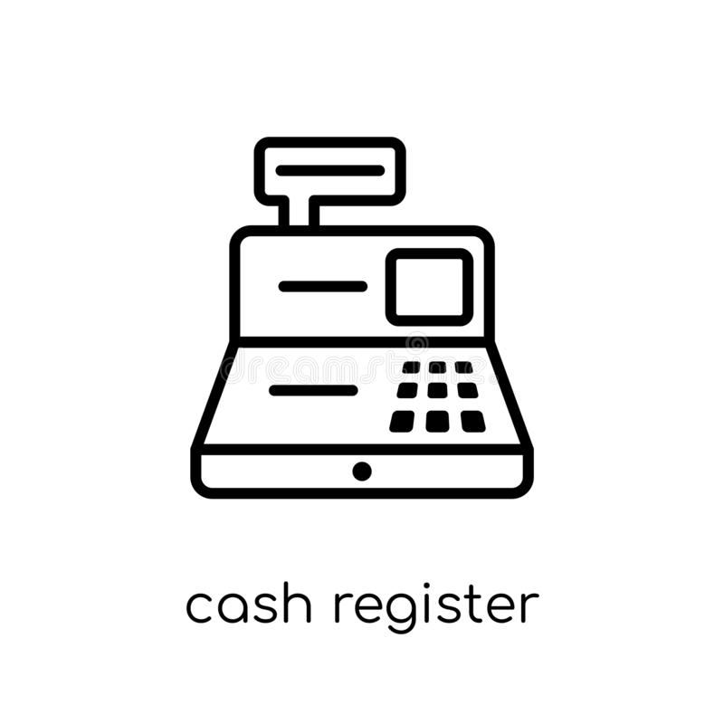 Cash register icon from collection. vector illustration