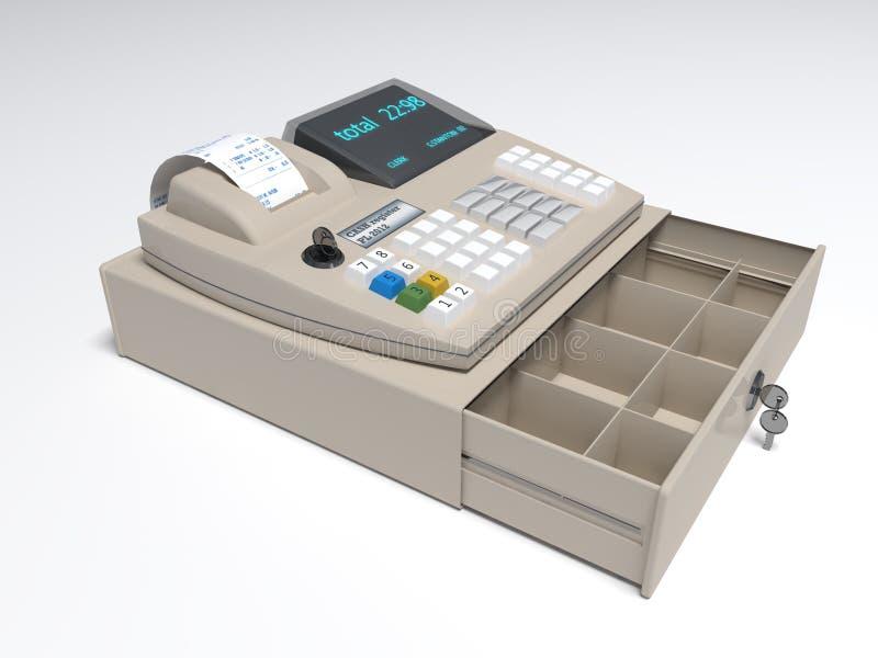 Cash Register. Illustration of the 3D rendered Cash Register royalty free illustration