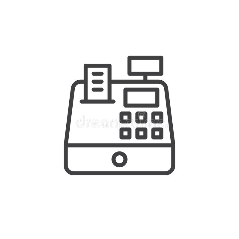 Free Cash Register Line Icon Stock Image - 99801781