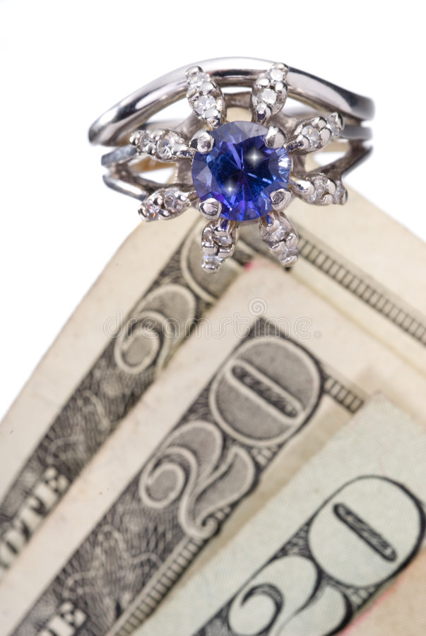 Cash and ring royalty free stock image