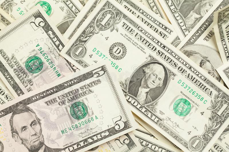 Cash US dollar background. American Dollars money.  royalty free stock image