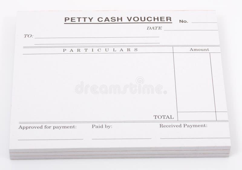 Cash voucher stock photo