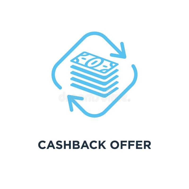 cashback Angebotikone Geldrückerstattungskonzept-Symbolentwurf, Vektor vektor abbildung