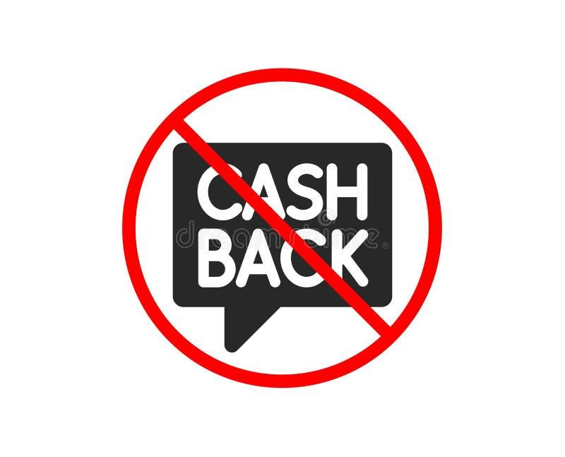 Cashback usługi ikona monety odizolowywający pieniądze przekazu stert przeniesienia biel wektor ilustracji