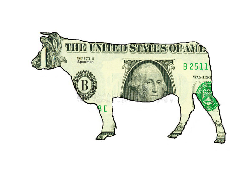 Download Cashcowdollar stock illustrationer. Illustration av pengar - 42093