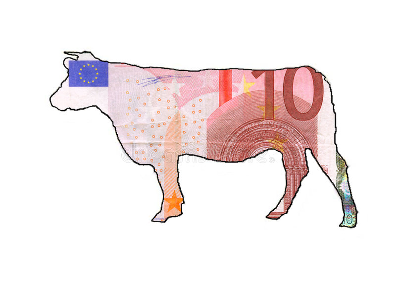 Download Cashcoweuro stock illustrationer. Bild av euro, angus, handel - 41717