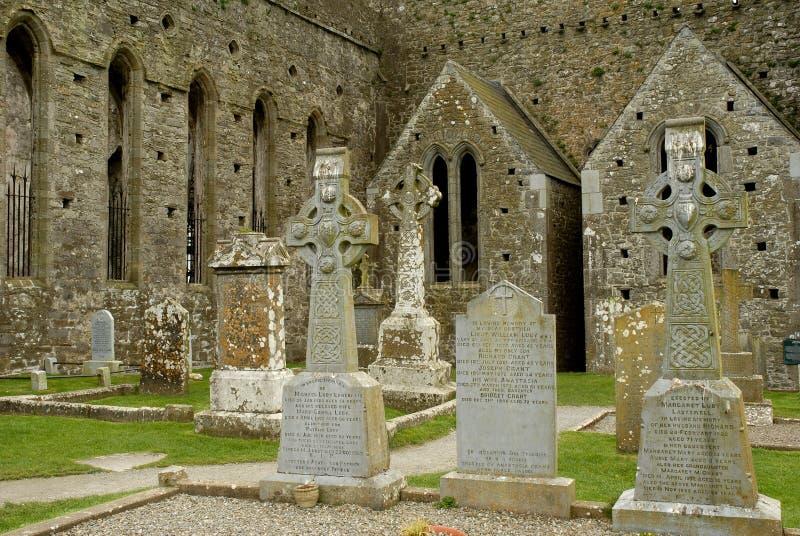 cashel坟园爱尔兰岩石 库存图片