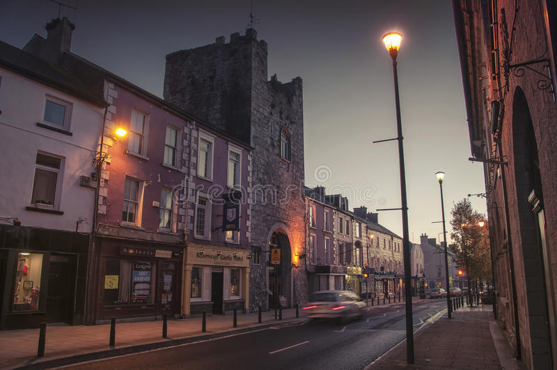 Cashel nachts, Irland stockfotos