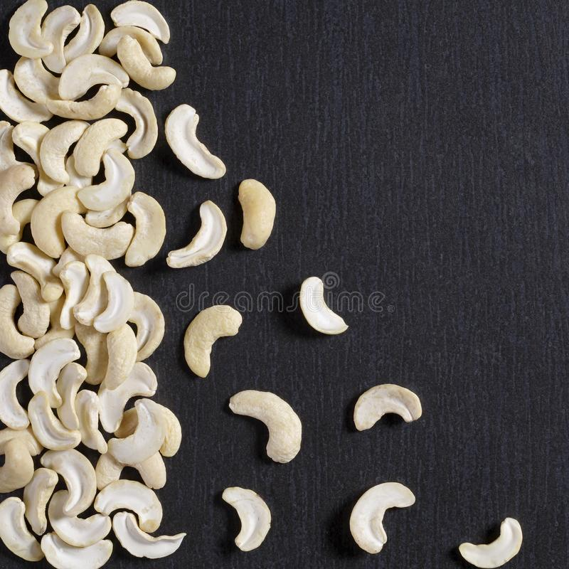 Cashew halves or Indian nuts royalty free stock image
