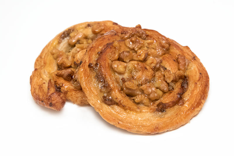 Cashew nut Danish pastry royalty free stock photo