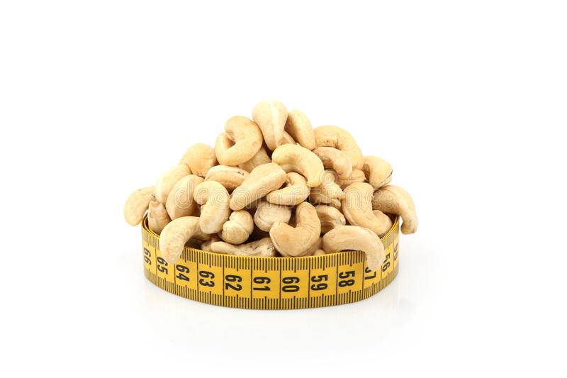 Cashew (nut) And Meter Royalty Free Stock Photos