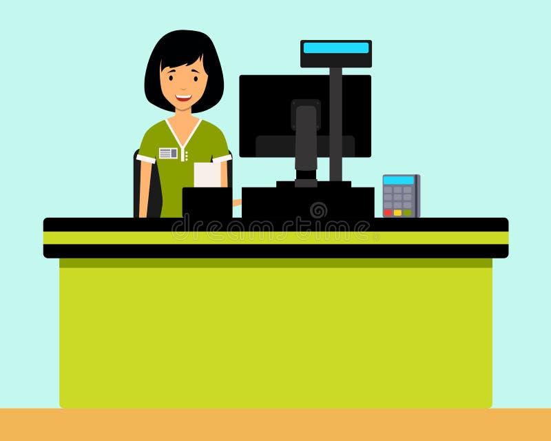 Cashier Cartoons: Cashier Stock Vector