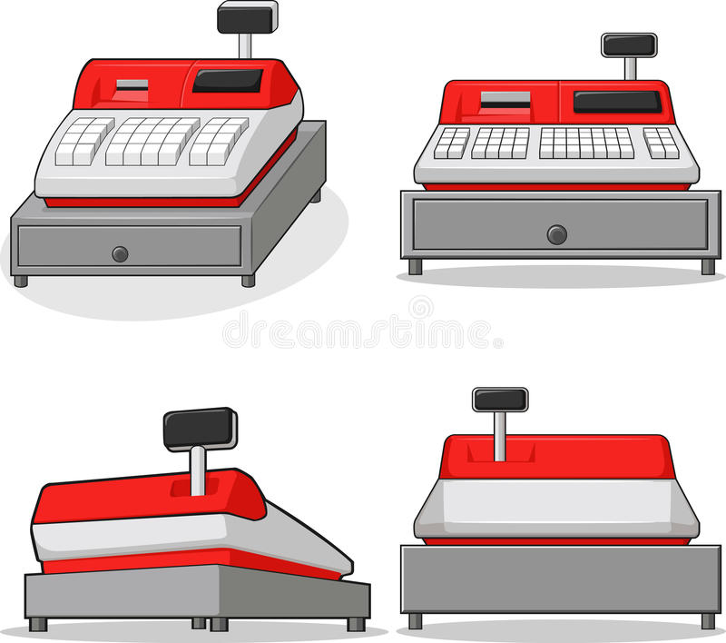 Download Cashier Machine stock vector. Image of financial, count - 27907261