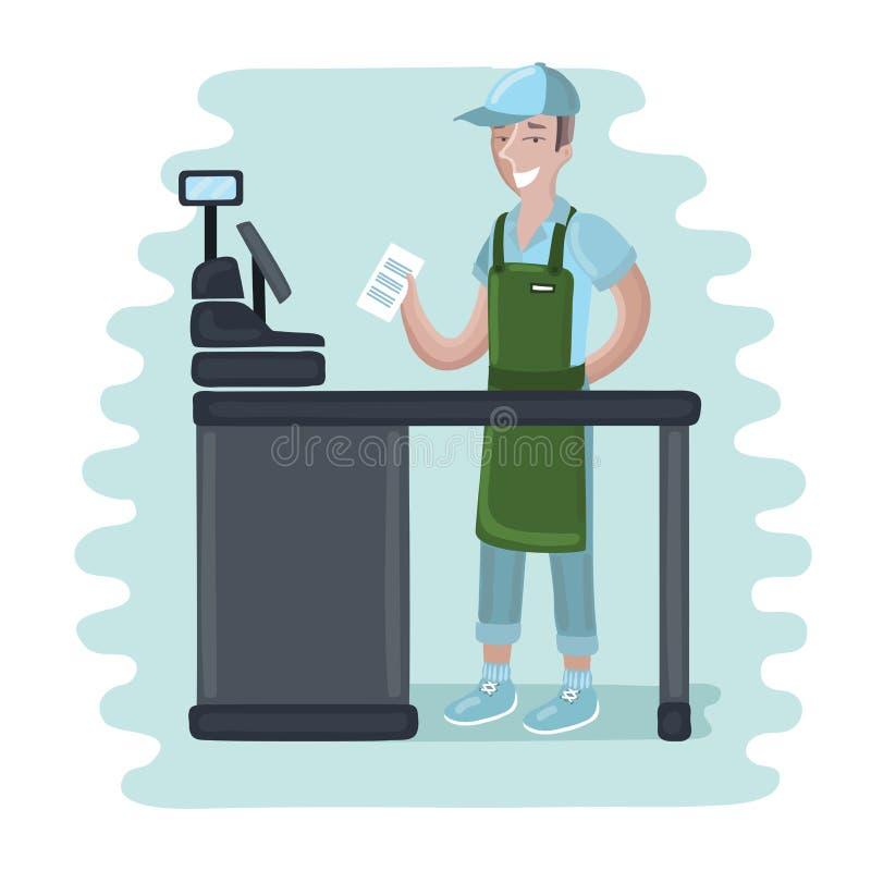 Cashier Cartoons: Vector Illustration Stock Vector