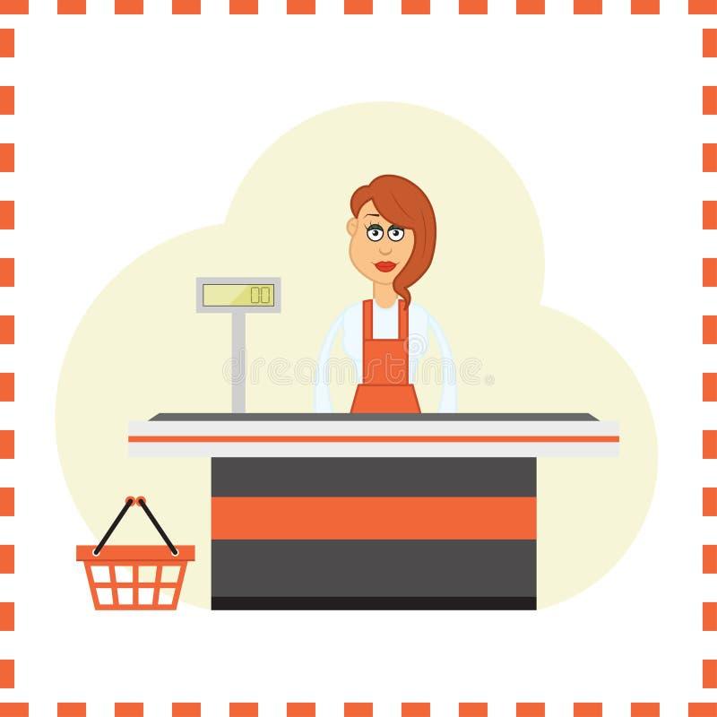 Cashier Cartoons: Cashier Stock Illustration. Illustration Of Cute, Beauty