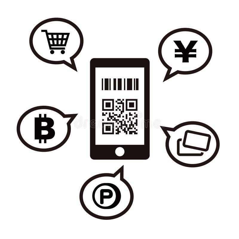 Cashless och Smartphone betalningbild vektor illustrationer