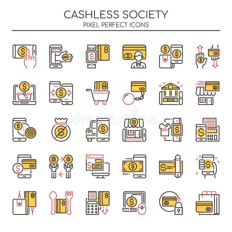 Cashless samhälle stock illustrationer