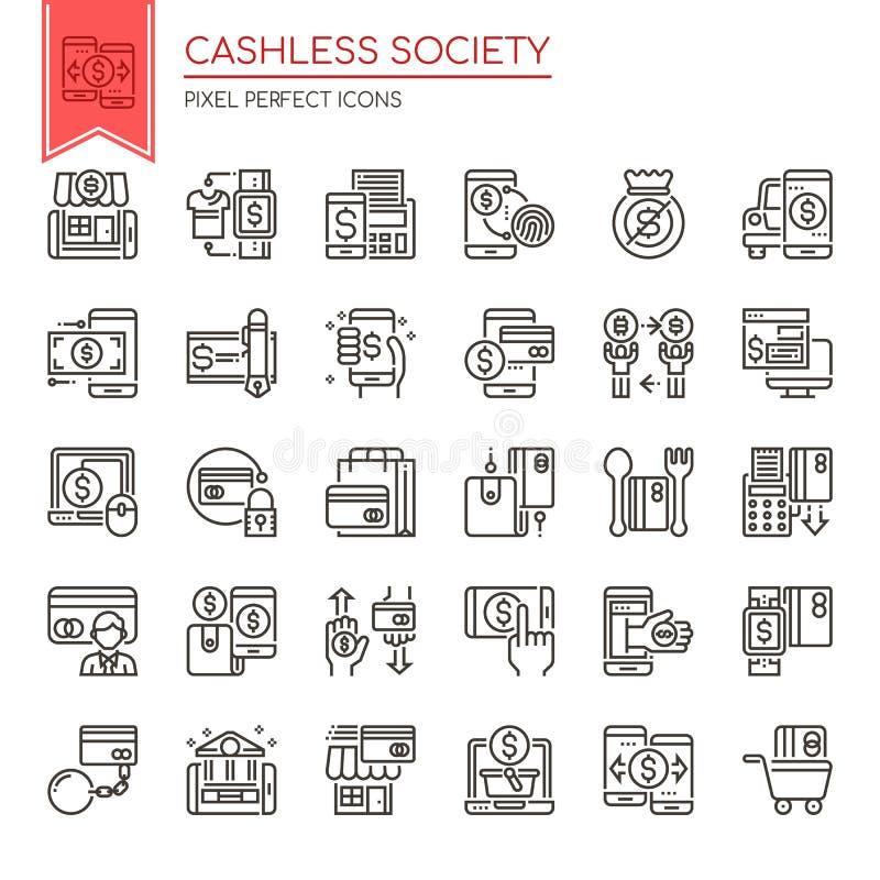 Cashless samhälle vektor illustrationer