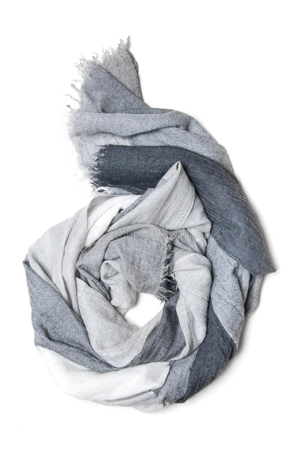 Cashmere scarf isolated. On white royalty free stock image