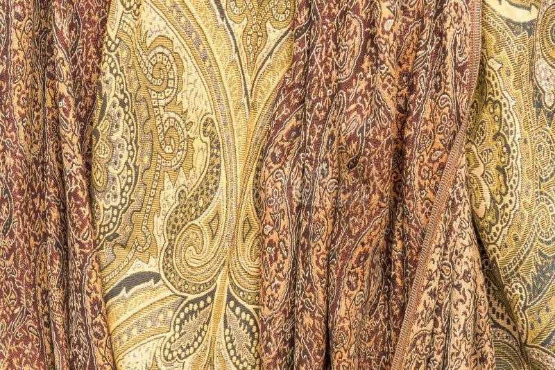 Cashmere scarves. Background. On a market in Sondel, Netherlands stock image