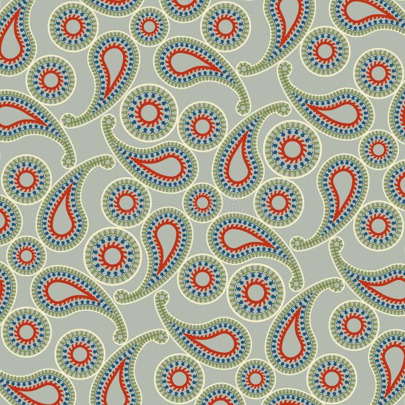 Cashmere textile colour pattern. Cashmere pattern textile – illustration vector stock illustration