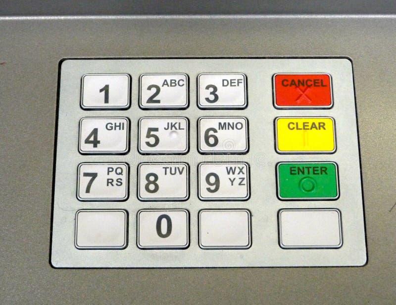 Cashpoint-Tastatur stockbilder