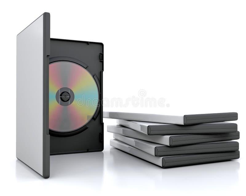 Casi di Dvd illustrazione vettoriale