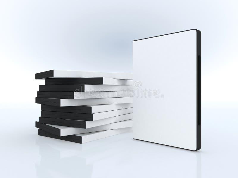 Casi di DVD, presentazione del software illustrazione vettoriale
