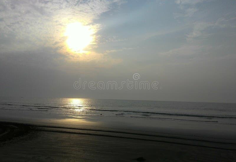 Casi puesta del sol fotos de archivo