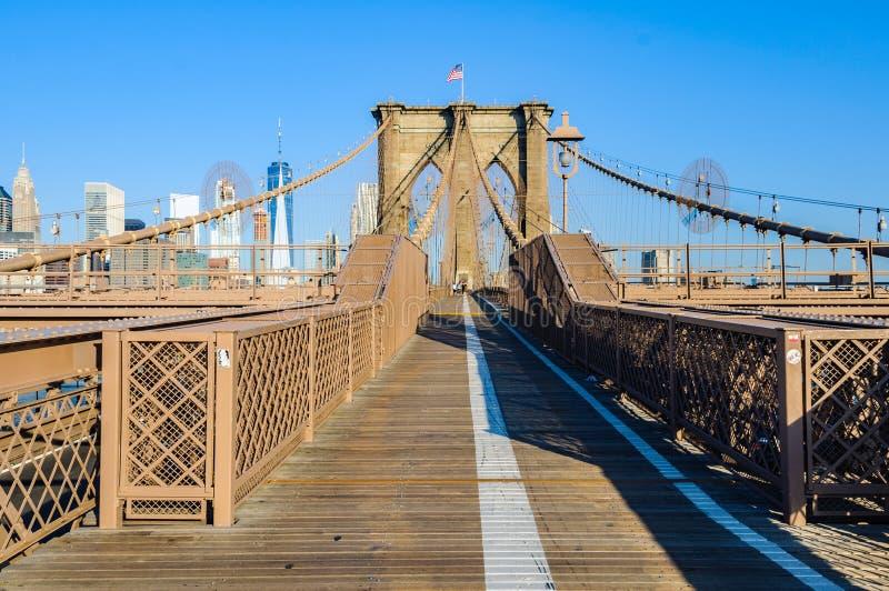 Casi solamente en el puente de Brooklyn, Nueva York, los E.E.U.U. foto de archivo