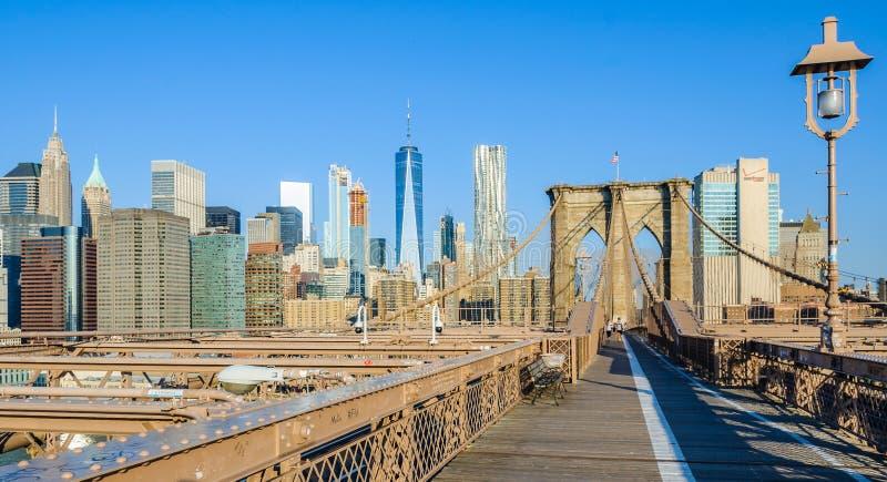 Casi solamente en el puente de Brooklyn, Nueva York, los E.E.U.U. imagen de archivo libre de regalías