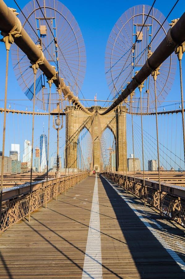 Casi solamente en el puente de Brooklyn, Nueva York, los E.E.U.U. fotografía de archivo libre de regalías