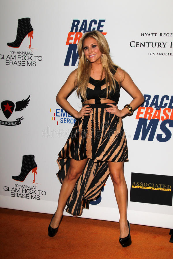 Casie Scerbo Arrives At The 19th Annual Race To Erase MS Gala Editorial Stock Photo