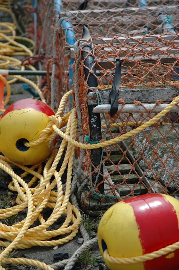 Casiers de pêche photo libre de droits