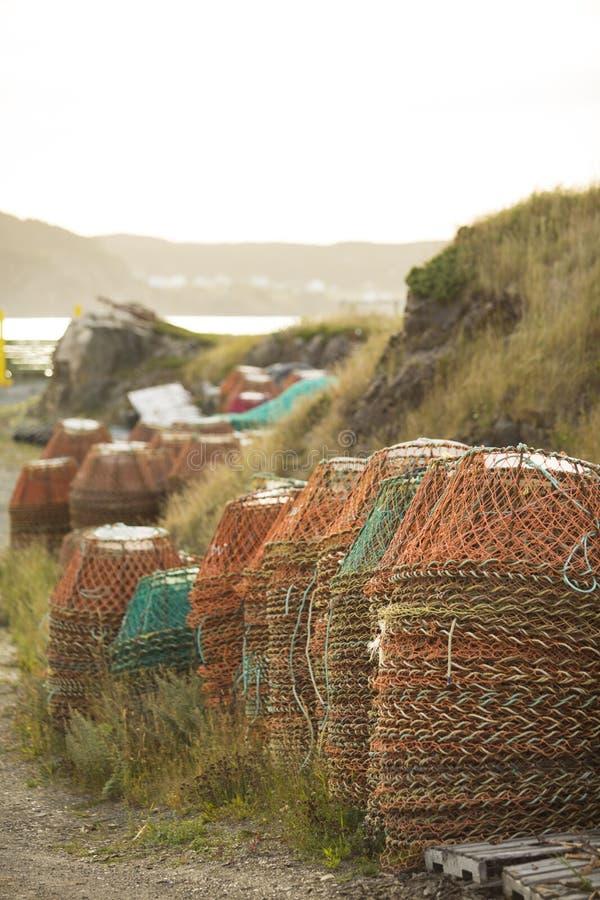 Casiers de pêche de crabe photo stock