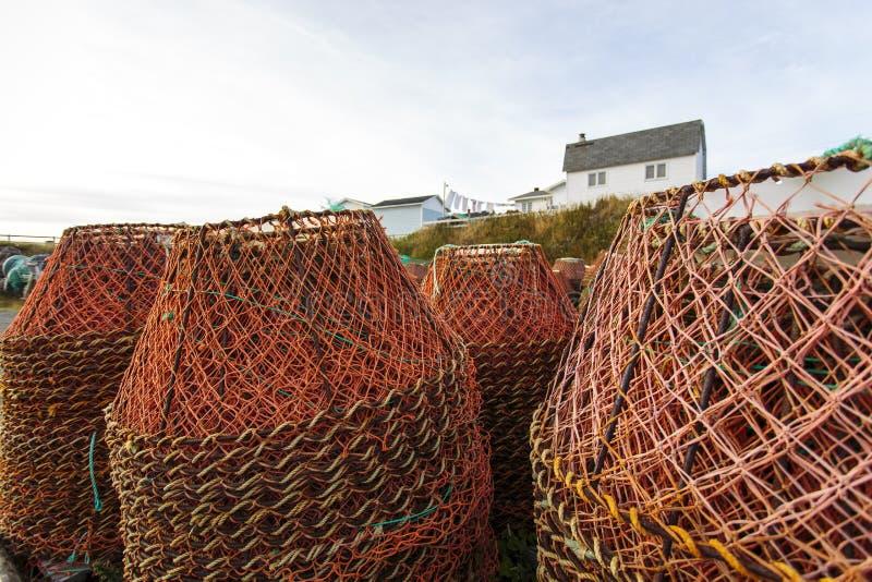 Casiers de pêche de crabe photo libre de droits