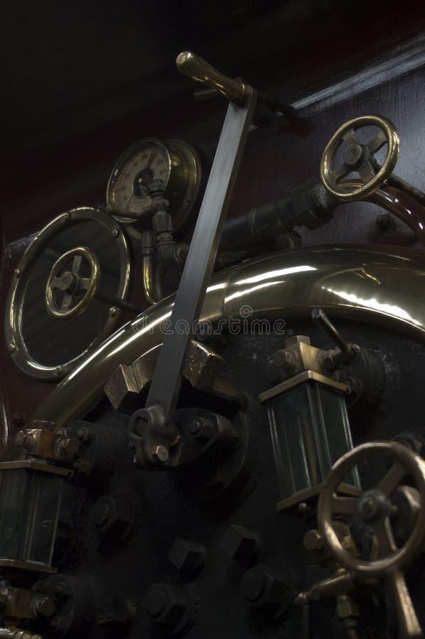 Casilla del motor de vapor imagen de archivo
