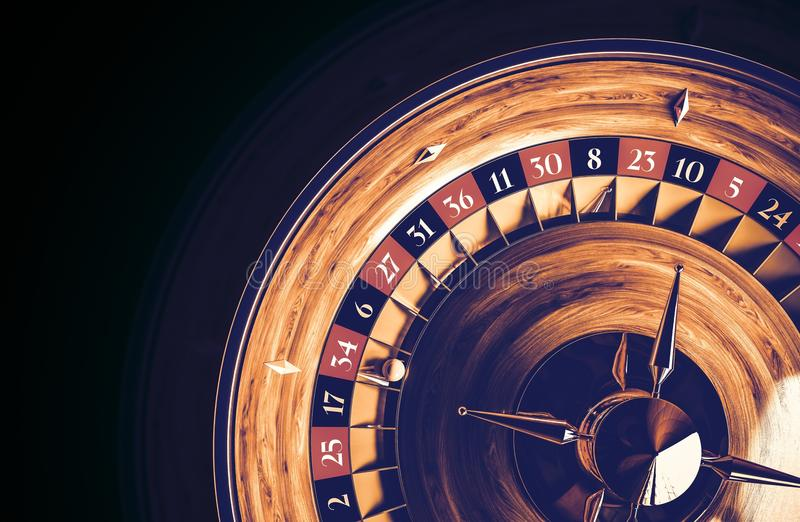 Casinò del gioco del gioco delle roulette fotografia stock