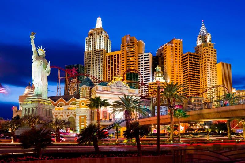 Casinò di New York a Las Vegas immagini stock libere da diritti