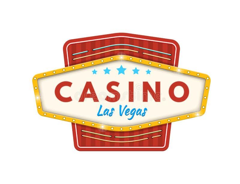 Casinò Las Vegas Posta, fortunata, successo, crescita finanziaria, profitto dei soldi illustrazione di stock