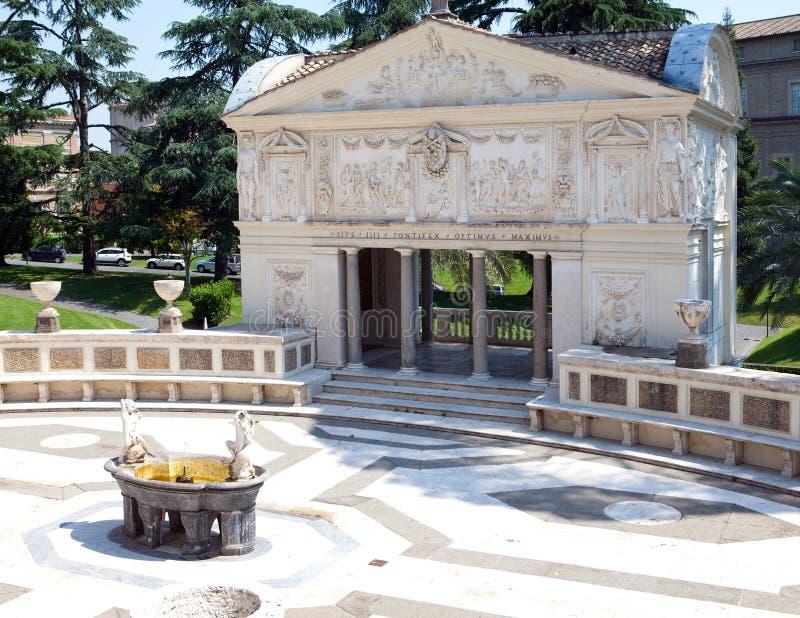 Casina Pio IV w Vaticanin słoneczny dzień. (willi Pia) Rzym zdjęcia royalty free